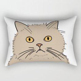 Fat brown cat staring Rectangular Pillow