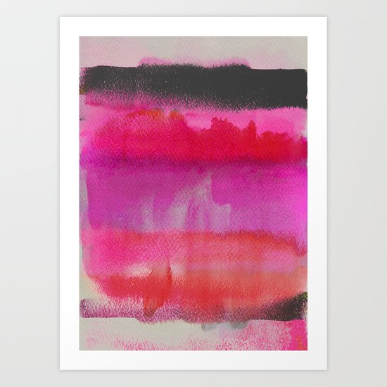 Red on Pink Art Print