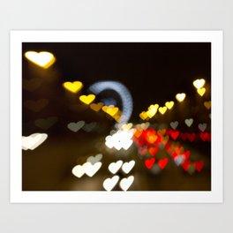 Love Along the Champs Elysees Art Print