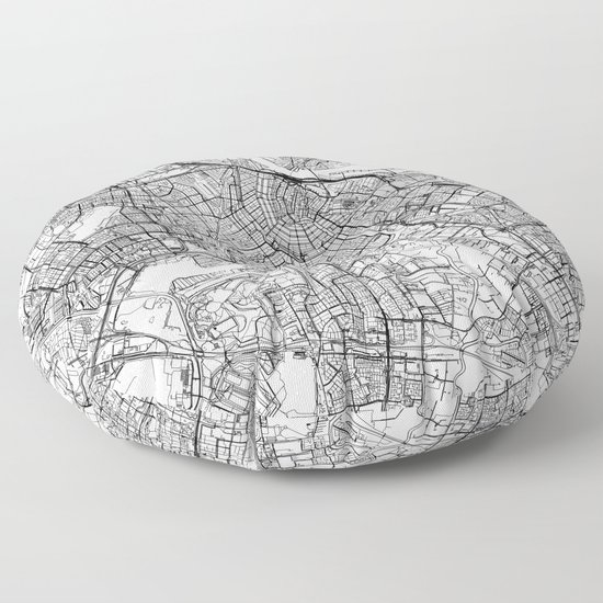 Amsterdam White Map by multiplicity