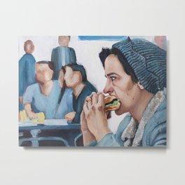 Jughead Jones Eats a Burger - Riverdale Metal Print