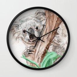 Koala Peek-A-Boo Wall Clock