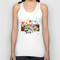 hedgehog Tank Tops featuring hedgehog by Caracheng