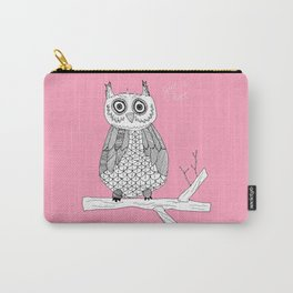 Pink Owl Gives A Hoot Carry-All Pouch