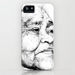 """""""Gabriela"""" of the Kaweskar People B+W iPhone Case"""