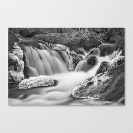 Cascade and Ice. Great Falls National Park, Virginia. Canvas Print