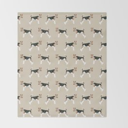 Wire Fox Terrier dog pattern dog lover gifts for dog person dog breeds pet friendly Throw Blanket