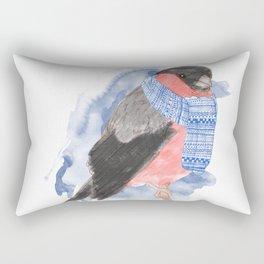 Winter Bullfinch Rectangular Pillow