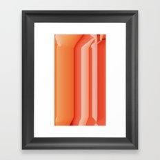 Glitch Rose Framed Art Print