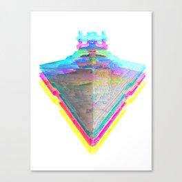 Star Destroyer Star Glitch Wars Canvas Print