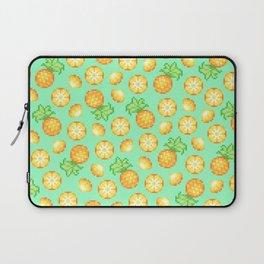 Pixel Pineapple Pattern Laptop Sleeve