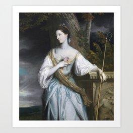 Anne Dashwood, Countess of Galloway by Joshua Reynolds Art Print