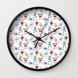 Chubby Bunnies Wall Clock