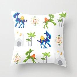 Camel Moroccan Pattern Throw Pillow