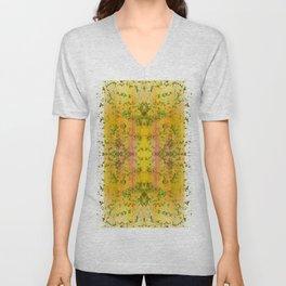 fresh stylized garden Unisex V-Neck