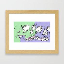 Pair of skulls Framed Art Print