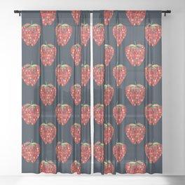 Strawberry Sheer Curtain