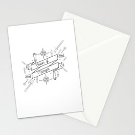 Crown of Midnight Stationery Cards