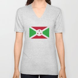 Burundi country flag Unisex V-Neck