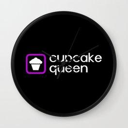 Cupcake Queen (Purple) Wall Clock