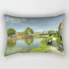 Hungerford Wharf Fishing Rectangular Pillow