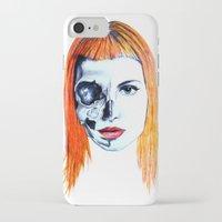 hayley williams iPhone & iPod Cases featuring Half Skull Half Hayley by anetambiel