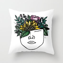 Thoughtful (Color) Throw Pillow
