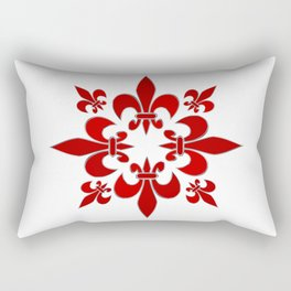 Fleur de Lis pattern Rectangular Pillow