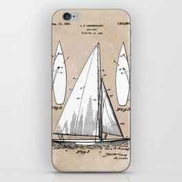 patent art Herreshoff  Sail Boat 1925 iPhone Skin