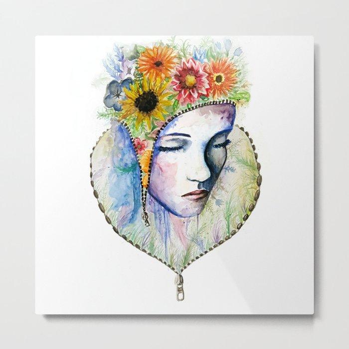 Flowers in my Mind Metal Print