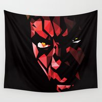 darth Wall Tapestries featuring Darth Maul by Roland Banrevi