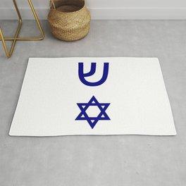 design from a mezuzah 2 Rug