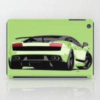 lamborghini iPad Cases featuring LAMBORGHINI GALLARDO by MATT WARING