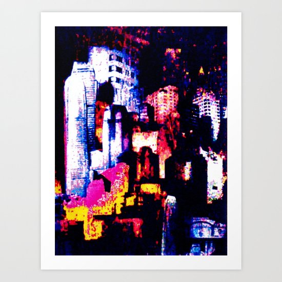 backstreets of the New York landscape  Art Print