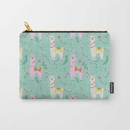 Llama Pattern Carry-All Pouch
