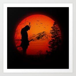 My Love Japan / Samurai warrior Art Print