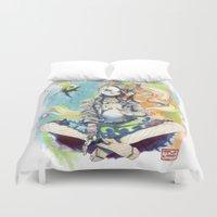 sandman Duvet Covers featuring Delirium by Archiri Usagi