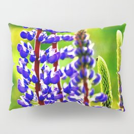 VIBRANT PURPLE LUPINES GLOWING IN SPRING Pillow Sham