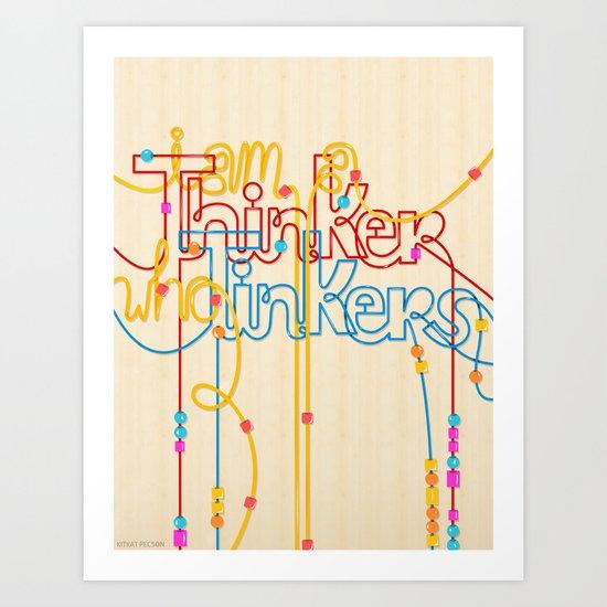 Tinkering Thinker Art Print