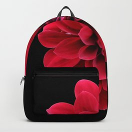 Red dahlia Backpack