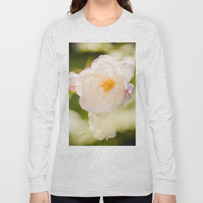 cream colored rose Long Sleeve T-shirt