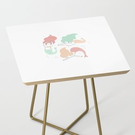 Colorful mermaids Side Table
