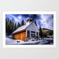 elmo Art Prints featuring St Elmo Church by Photography By KC