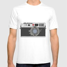 Camera, 2 White Mens Fitted Tee MEDIUM