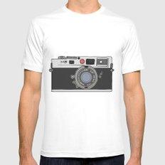 Camera, 2 MEDIUM Mens Fitted Tee White