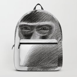 Gorilla head portrait Backpack