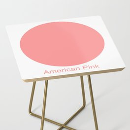 American Pink Side Table