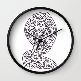 Alien Woman Wall Clock
