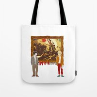 revolution Tote Bags featuring rEVOLution by Little wadoo