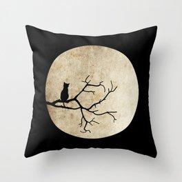 Cat Night Throw Pillow